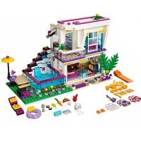 Compatible Legoe Friends Mini doll Figures 41135 M 644pcs Livi's Pop Star House Figure Building Blocks Bricks Toys For Children