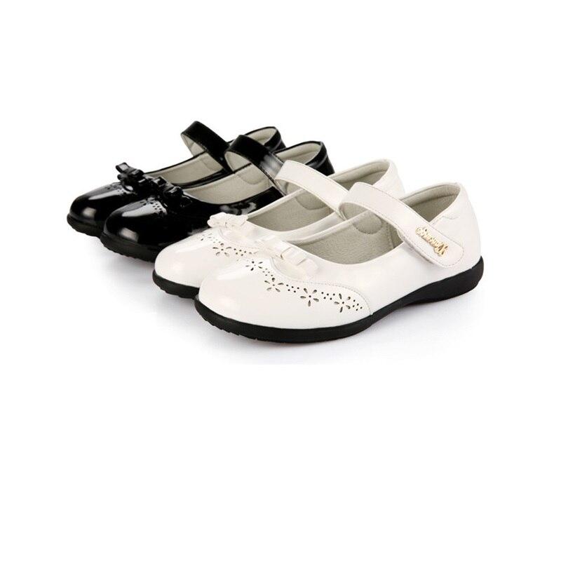 Туфли из натуральной кожи белого и черного цвета для маленьких девочек, детские туфли для вечеринок и танцев, детские туфли принцессы для свадьбы, студенческие туфли, высокое От 3 до 14 лет Кожаная обувь      АлиЭкспресс