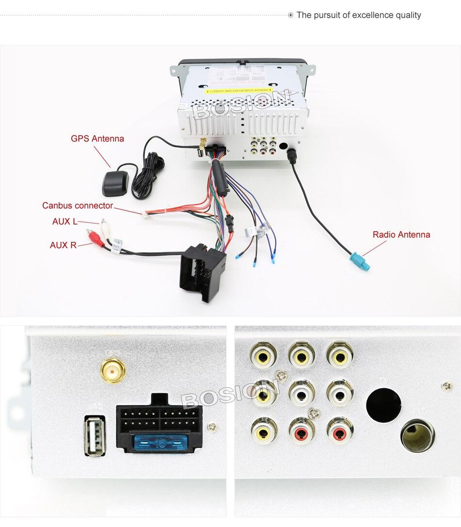 Lecteur dvd de voiture 2 DIN 7 ''pour VW GOLF JETTA POLO TOURAM PASSAT B6 avec écran tactile GPS, commande au volant, stéréo, radio, usb - 6