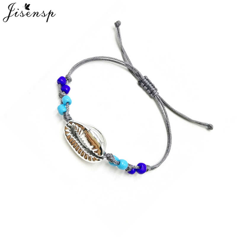 Jisensp 2019 New Arrival Simple Fashion Beaded Seashell Bracelets Bangles for Women Birthday Gift armbanden voor vrouwen