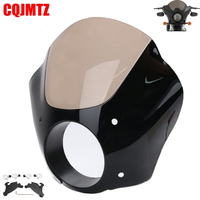Smoky Gauntlet Headlight Fairing Lock Mount Kit For Harley Dyna 72 Low Rider Sport Glide FXRS FXDL FXD Sportster XL883 1200X