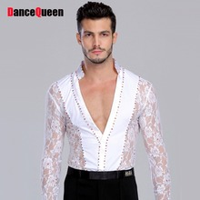 2018 New Men/Boy's Latin Dance Dress Long Sleeve Men's Shirt 105-180 Cm Ballroom/Latin Stage Dance Clothing Free Shipping DQ5078