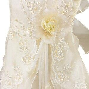 Image 5 - IEFiEL Ragazze Ricamato Flower Bow Partito Convenzionale Ball Gown Prom Principessa Della Damigella Donore Nuziale del Vestito Dei Bambini Tutu Formato 4 14Y