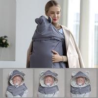 Baby Carrier Cloak Mantle Cover Waterproof Newborn Trolley Covers Baby Kangaroo Sling Rainproof Cloak Windproof Suspender