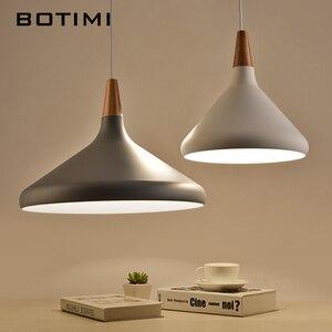 Image 4 - BOTIMI Nordic Retro Pendant Lights For Dining Kitchen Lampadario Vintage Metal Hanging Lamp Indoor Luminaria Light Fixtures