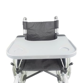 Portable ABS Wheelchair Tray Table 2 Cups Holder Lap Eating Reading Desk Nursing Home Stand Counter Wheelchair Accessories
