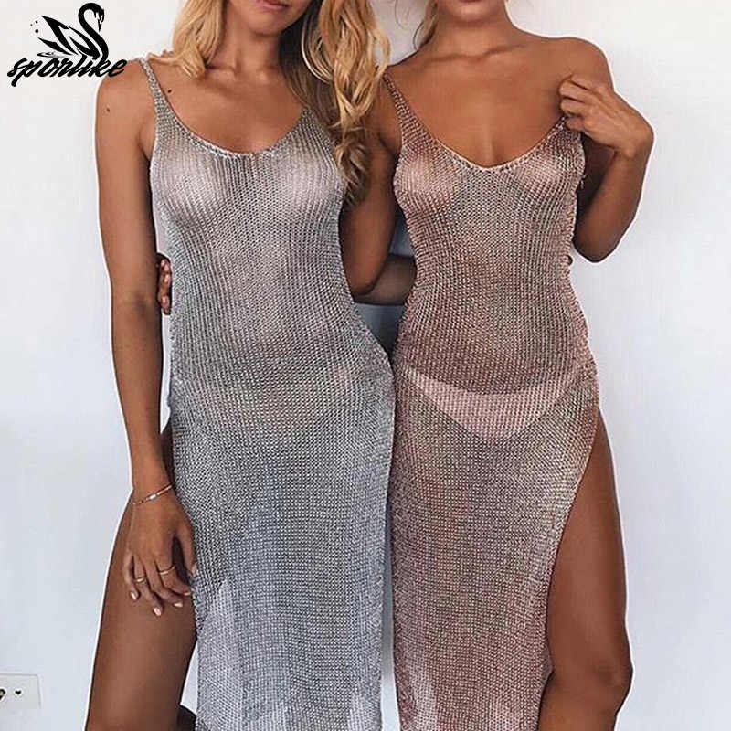 3d2836e05149 Women Sexy Bikini Beach Cover-up Swimsuit Covers up Bathing Suit Summer  Beach Wear knitting