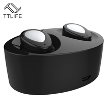 TTLIFE TWS True Wireless Stereo Airpods Bluetooth 4.1 EDR Sports Earphones With 500mAh Power Bank Earphone With Mic For iPhone 7