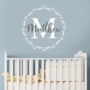Personalized Boy Name Nursery Children Bedroom Wall Sticker Vinyl Decal Kids Children Room Custom Name Vinyl Wall Decal AY401