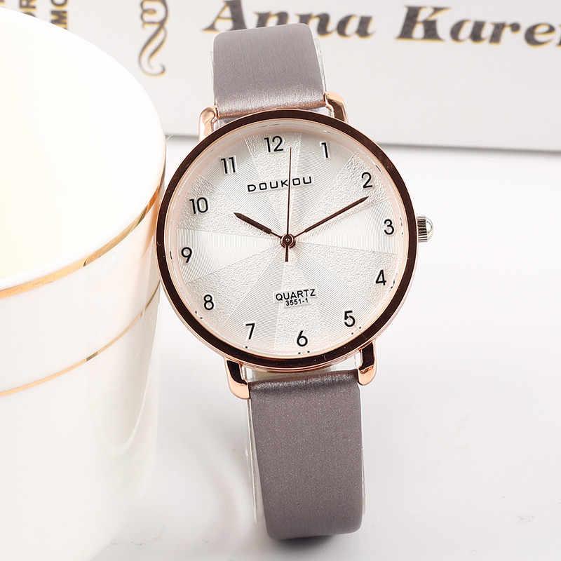 64c17e231 2019 New Women Exquisite Dial Design Bracelet Quartz Watch Ladies Simple  Fashion Casual Leather Wristwatch Women's