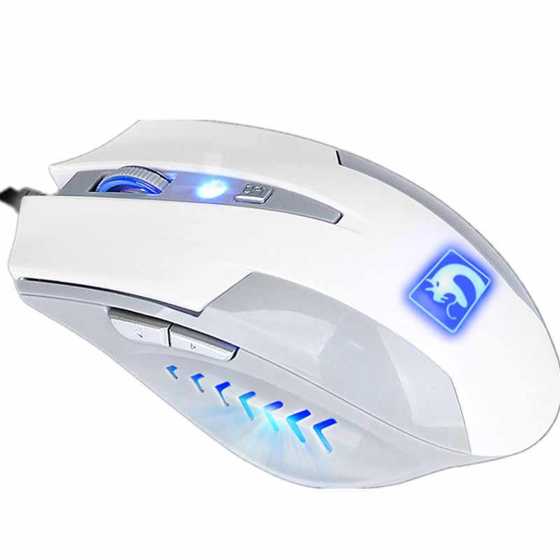 Профессиональная Проводная игровая мышь 6 Bottons 2000 dpi светодиодный геймер Мыши для ПК компьютер настольный ноутбук