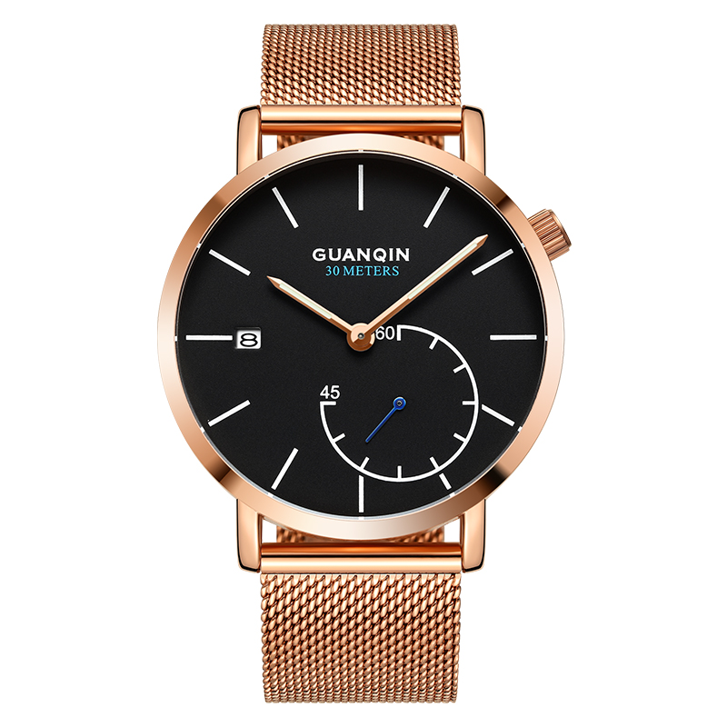 GUANQIN GS19083 watches men luxury brand Quartz Watch Men's Fashion Stainless Steel Waterproof Wristwatch relogio masculino jp 96 19 статуэтка кошка pavone