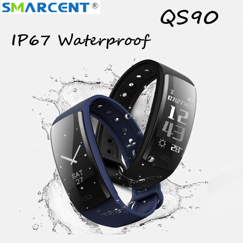 QS90 Smart Watch Fitness Bracelet Heart Rate Monitor Smart Band Blood Pressure Tracker Smart Wristband for Android IOS pk QS80