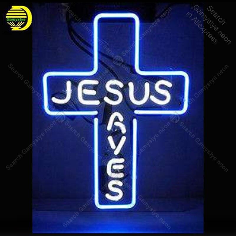 Enseigne au néon pour jésus sauve les ampoules au néon croix décor amour affichage bière Express boutique néon éclairer les enseignes au néon pour la chambre Letrero