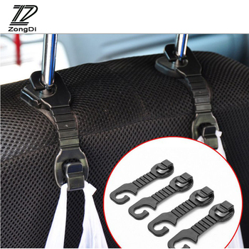 ZD 2pcs Car-styling For Volvo S60 V70 XC90 Subaru Forester Peugeot 307 206 308 407 207 3008 Car Back Seat Holder Hooks Covers image