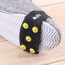 Professional Anti-Skid Snow Ice Thermoplastic elastomer Climbing Shoes Spikes Grips Cleats Over Shoes Covers Crampons(China)