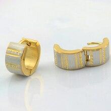 6 пар/лот 7 мм * 9 мм из нержавеющей стали золотые серьги клип на ухо серьги из нержавеющей стали ювелирные изделия
