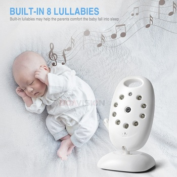 VB601 2.4Ghz Video Baby Monitors Wireless 2.0 Inch LCD Screen 2 Way Talk IR Night Vision Temperature Security Camera 8 Lullabies 3
