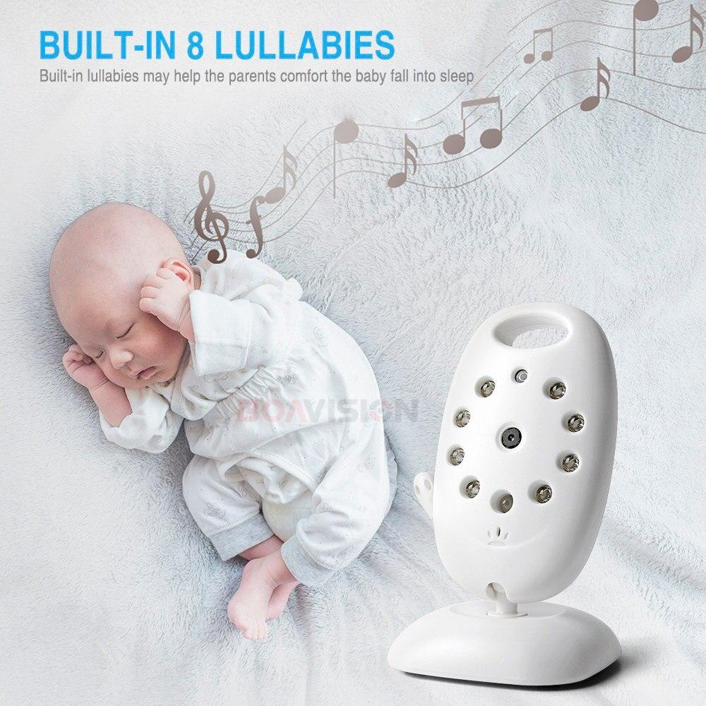 VB601 2,4 Ghz vídeo monitores de bebé inalámbrico de 2,0 pulgadas de pantalla LCD de 2 hablar IR visión nocturna temperatura de la cámara de seguridad 8 canciones de cuna - 4