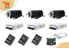 Все корабль! Wantai 3 оси Nema34 простой Серводвигатель замкнутый контур 6A 900N-cm (1270oz-in) и драйвер 8.2A SS880 + источника питания 350 w 60 v