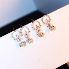 цены Earings Fashion Jewelry 2019 S925 Silver Needle Flower Stud Earrings Gold/ Silver / Tassel Pendant Ball Style Crystal Earrings