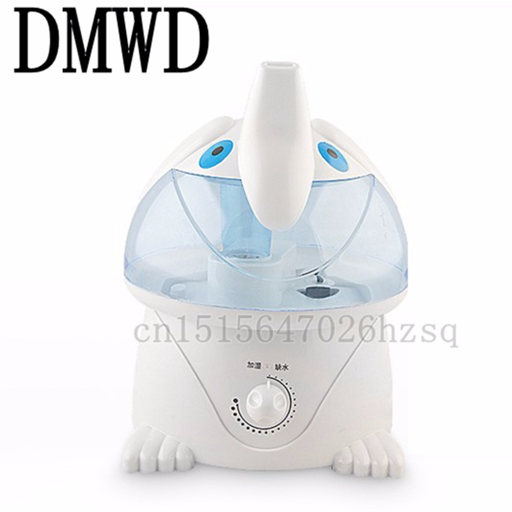 DMWD Cute cartoon image of the humidifier elephant creative office household air purifier Mini ornaments performance evaluation of color image watermarking