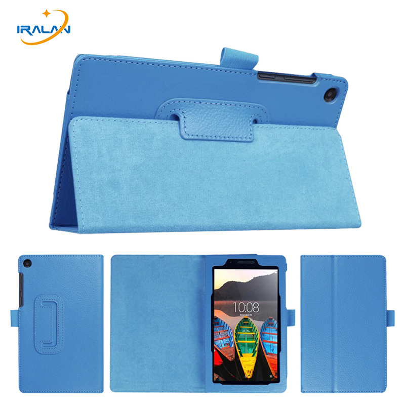 wholesale For Lenovo Tab3-710F 7.0 inch PU Leather Case For Lenovo Tab 3 7 Essential 710F 710I Stand Litchi Protective Cover+pen for lenovo tab3 10 for business tb3 70f m tablet case cover 10 1 inch for lenovo tab2 a10 70f l a10 30 x30f film stylus pen