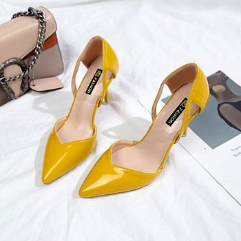 Yellow Pointed Toe Pumps