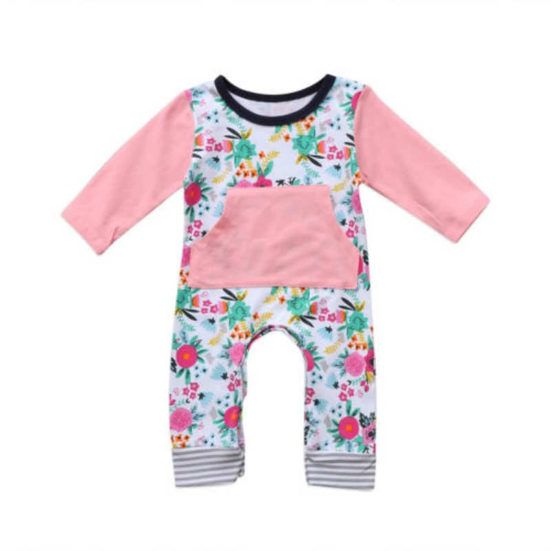 Floral Baby Kids Girls Infant Long Sleeve Rompers Jumpsuit Playsuit Outfits