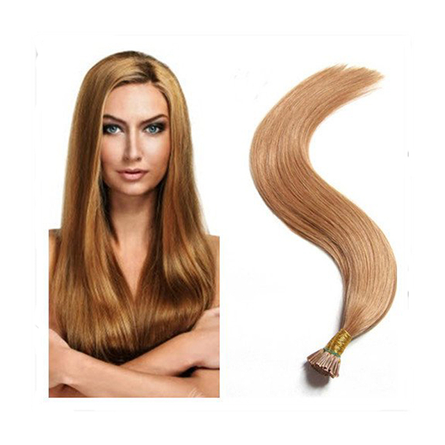 Full Shine Straight Brazilian Real Human Hair Light Golden Brown