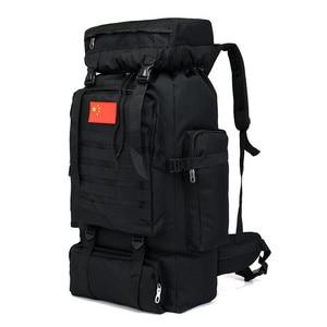 Image 2 - 70L Large Capacity Backpack Waterproof Nylon Military Tactics Molle Army Bag Men Backpack Rucksack for Hike Travel Backpacks