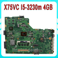 For ASUS X75VC Laptop motherboard with i5-3230m cpu 4GB 60NB0240-mb8000 X75VB REV: 3.0 100% Tested before shipping