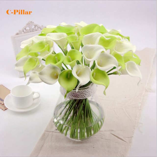 PU Mini Artificial Calla Lily 8 Colors Real Touch Calla Lilies Hydrangea  Home Wedding Decor Artificial