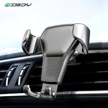 Universal Car Phone Holder Leather Gravity Car Bracket Air Vent Stand Mount For iPhone 8 XS XR Samsung Support Telephone Voiture