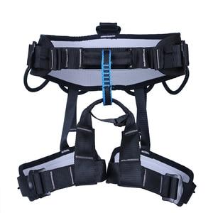 Image 5 - XINDA קמפינג חיצוני טיולים רוק טיפוס לרתום חצי גוף תמיכת מותניים בטיחות חגורת נשים גברים מדריך לרתום אווירי ציוד