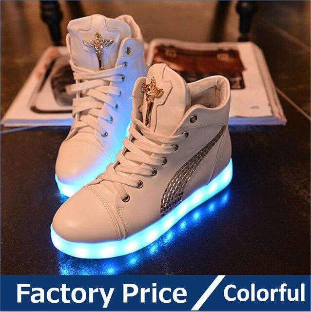 2015 femmes glowing Colorful glowing femmes chaussures avec des lumières up led 55cc1b