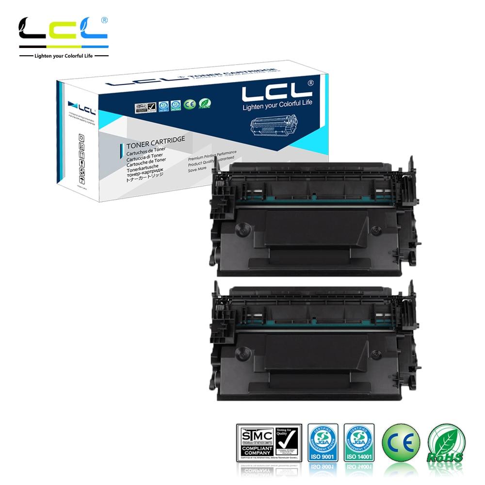LCL 87A 87X CF287A CF287X 18000 Pages (2-Pack Black) Toner Cartridge Compatible for HP LaserJet Enterprise M506dn/M506x/M506n any 1 lcl 651a ce340a ce341a ce342a ce343a 1 pack black cyan magenta yellow toner cartridge compatible for hp pro 700 m775