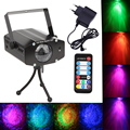 3W RGB Laser Projector Light Water Wave Ripple Effect Stage Lamps DJ Disco Laser Stage Light For Home Party Entertainment