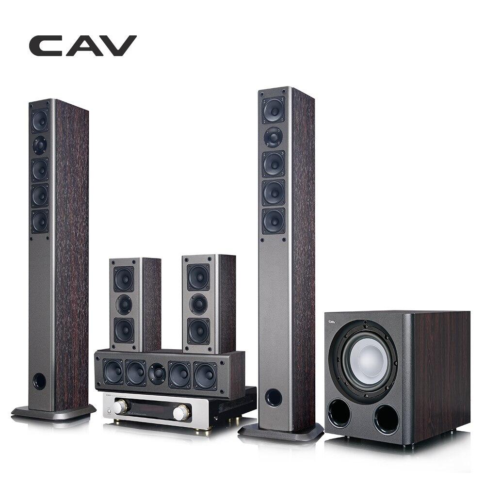 CAV IMAX Home Cinéma 5.1 Système Bluetooth Intelligent Multi 5.1 Son Surround Système de Cinéma Maison 3D Son Surround Musique Center