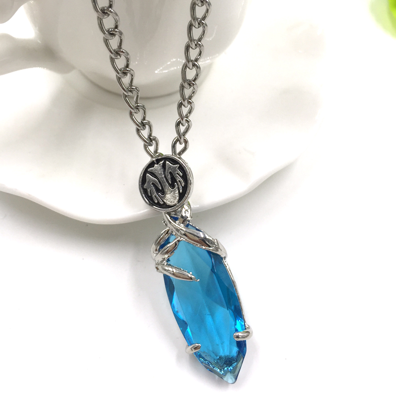 arrival necklace products new blue chain with pendant snowflake frozen crystal pendants fashion ladygarden flower silver jewelry colors