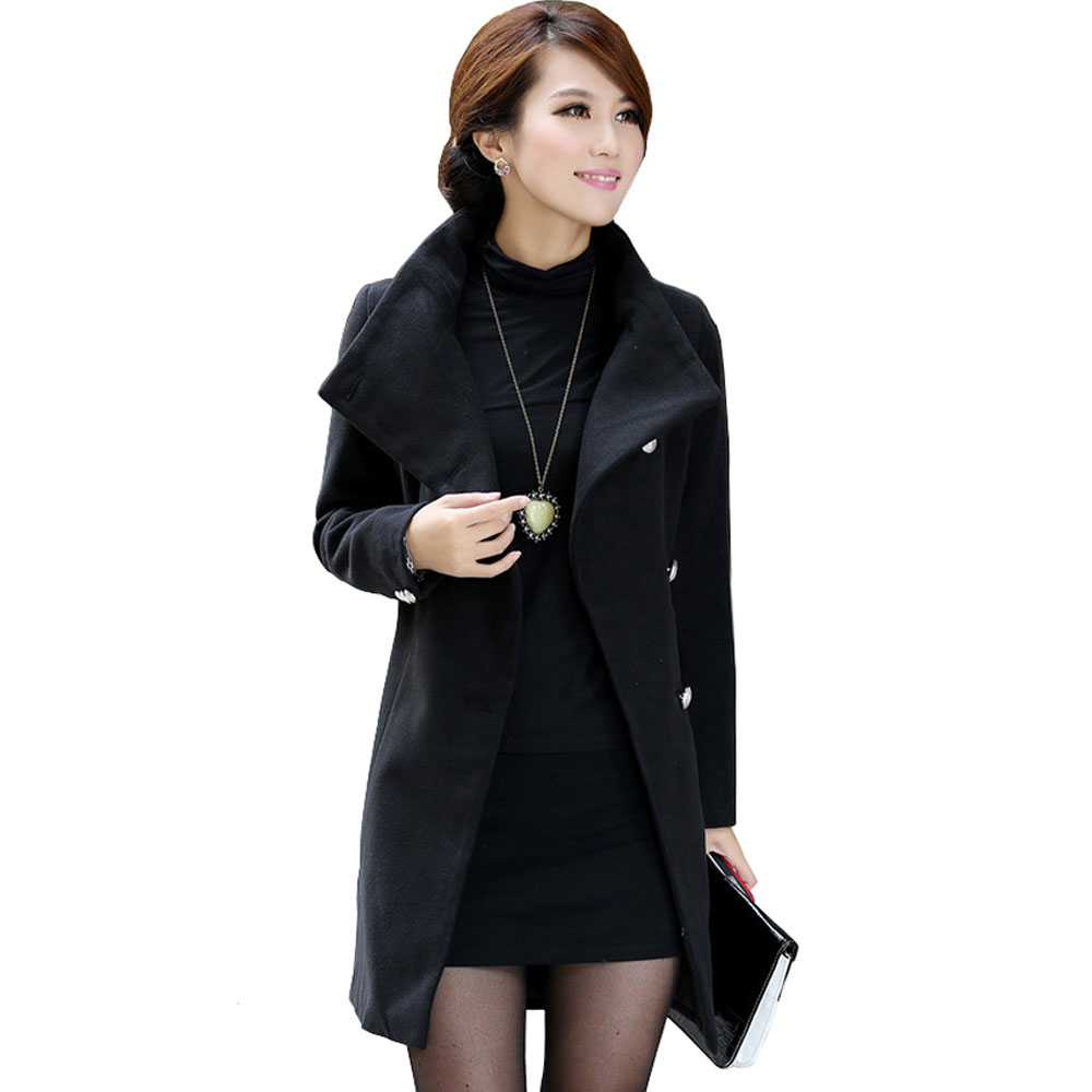 Ladies Long Black Jacket VLFjId