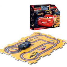 2018 Disney Pixar Juguete Cars 3 DIY Toys Electric Track Cars Storm Jackson with 6 Tracks for Children Boys Birthday Xmas Gifts