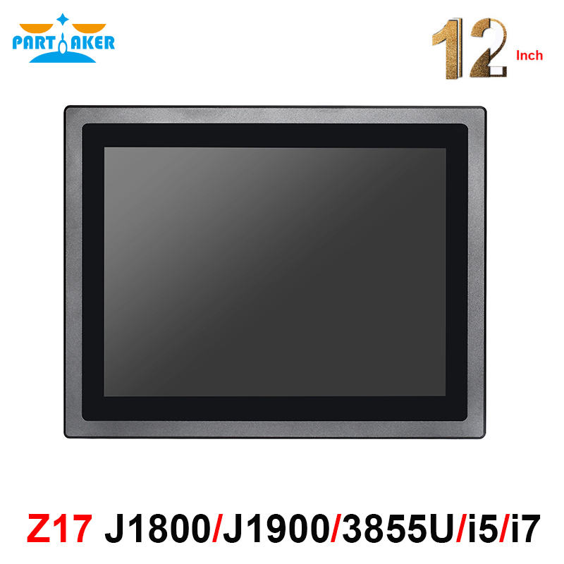 12 Inch LED IP65 Industrial Touch Panel PC All in One Computer 10 points capacitive touch screen Win 7 J1800 J1900 3855U i5 i7