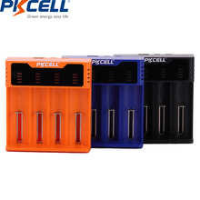1PCS PKCELL Smart Battery Charger for 18650 14500 26650 AA AAA 1.2v 3.2v 3.7V NI-MH NI-CD li-ion battery Charger 5V 2A LED USB original klarus ch4s smart battery charger ac usb input 4 slot lcd intelligent battery charger for c aa aaa 18650 26650 14500