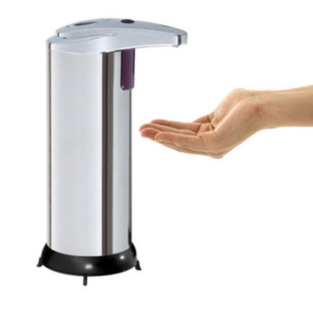 Stainless steel infrared sensor soap dispenser pump shower shampoo bottle hand sanitizer container Bathroom Accessories