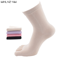 WHLYZ YW 5 pairs/lot 5 finger socks woman good quality cotton Solid five fingers socks Leisure harajuku toe socks hot sale