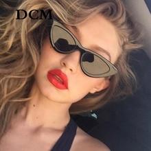 DCM Fashion Cat Eye Sunglasses Women Small Black Red Cheap L