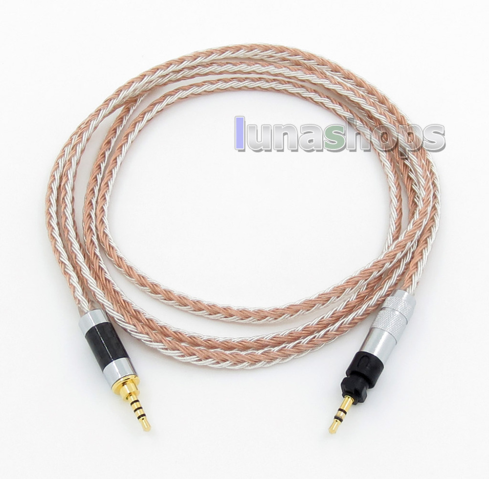 2.5mm 16 Cores OCC Silver Plated Mixed Headphone Cable For Shure SRH840 SRH940 SRH440 SRH750DJ LN005785 shure srh750dj