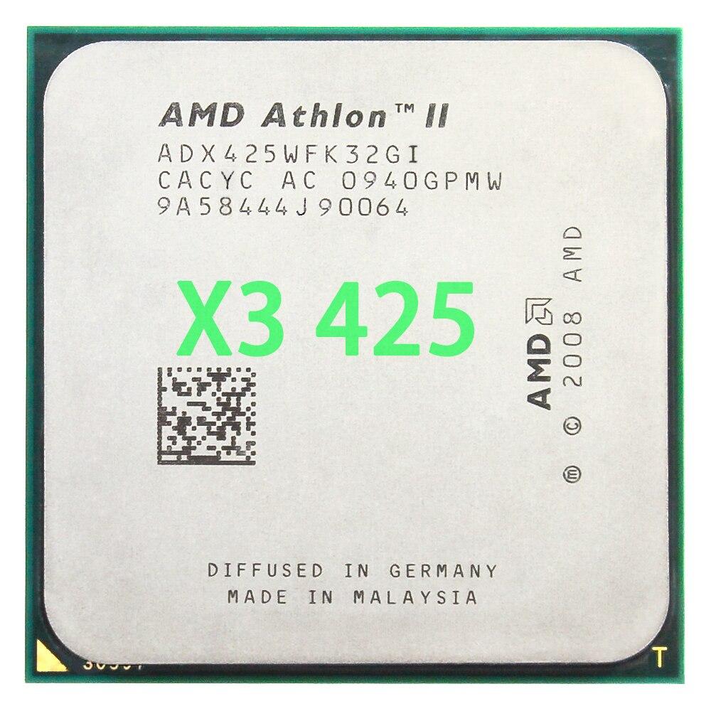 AMD Athlon II X3 425 CPU Processor Triple-Core (2.7Ghz/ L2=2M /95W / 2000GHz) Socket Am3 Am2+