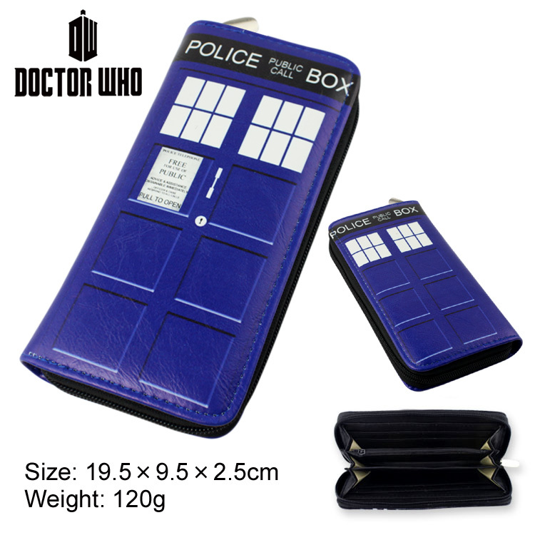 Colorful long style PU wallet of Doctor Who with zipper